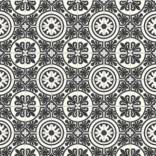 Expodecor-Mosaic1020-Black&White cement tiles